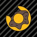 chocolate, donut, doughnut, sweet icon