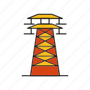 communication, electricity, radio, tower icon