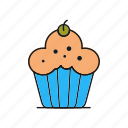 brownie, cake, cupcake
