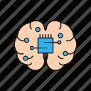 brain, chip, creativity, head, mind