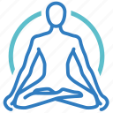 etheric body, health, healthcare, healthy, holistic medicine, medical, yoga icon