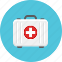 aid, doctor briefcase, medical, suitcase icon