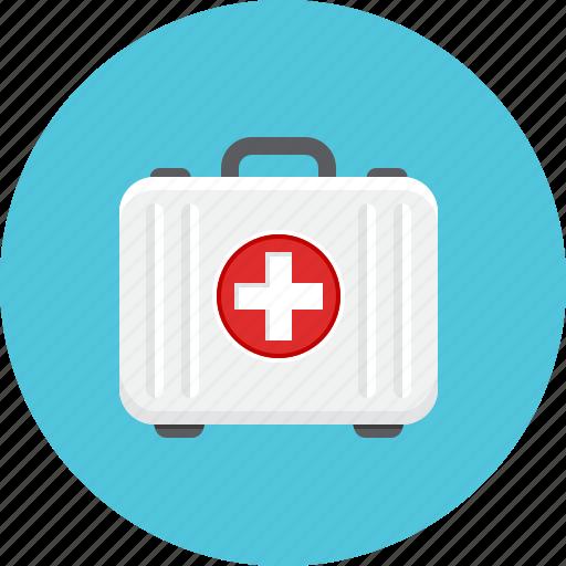aid, doctor briefcase, medical, suitcase icon