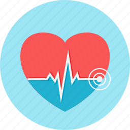cardiogram, heart, heartbeat, lifeline, medical, pulse icon
