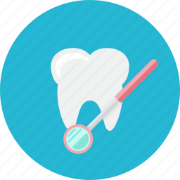 dental, dentist, medical, mirror, stomatology, tooth icon