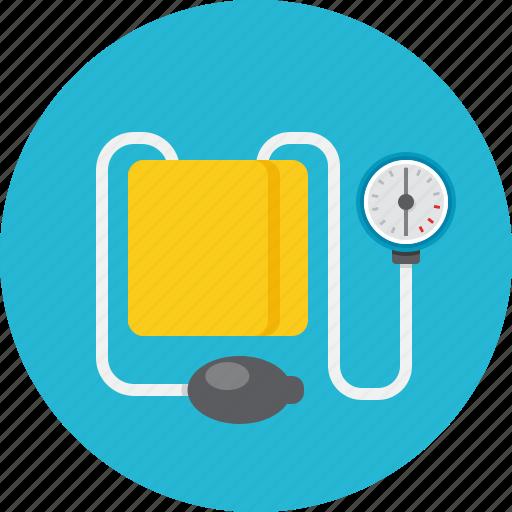 blood pressure, cuff, medical, tonometer icon