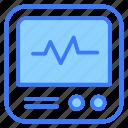 ecg monitor, ecg, monitor, screen, device, technology, hospital