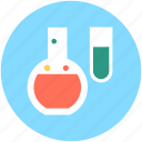 flask, lab equipment, lab research, lab test, test tube icon