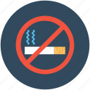 forbidden, no cigarette, no smoking, quit smoking, restricted smoking icon