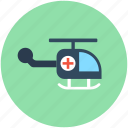 air ambulance, emergency flight, medevac, medical flight, medical helicopter icon