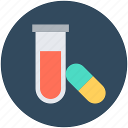 capsule, lab test, medication, sample tube, test tube icon