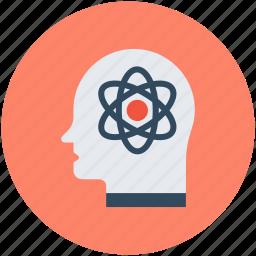 creative mind, genius, human brain, human head, intelligent icon