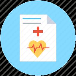 ecg report, medical report, medications, medicine chart, prescription icon