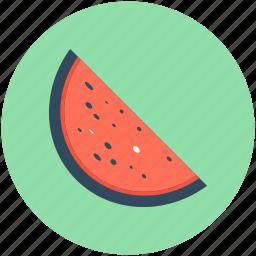 diet, food, fruit, watermelon, watermelon slice icon