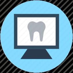 dental anatomy, dental checkup, molar, monitor, tooth anatomy icon