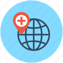 health clinic, hospital direction, hospital location, hospital pin, location pin icon