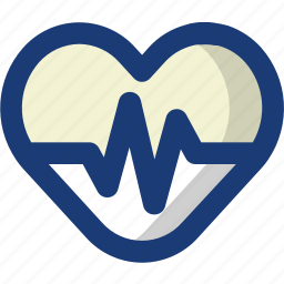beat, cardiology, health, heart, medical, wave icon