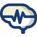 brain, health, medical, pulse, wave icon