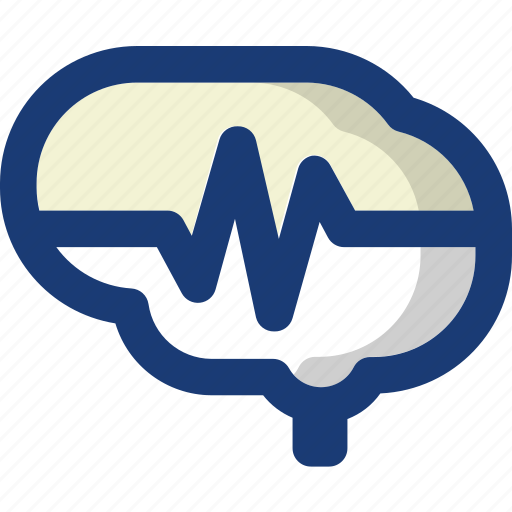 brain, health, medical, pulse, wave icon