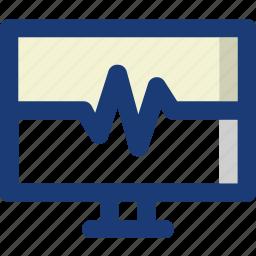 beat, health, medical, monitor, pulse, wave icon