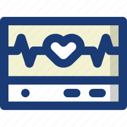 health, heart, medical, monitor, pulse, scan icon