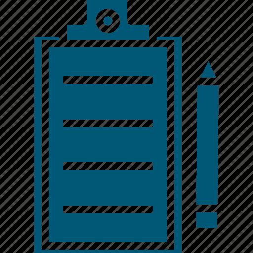 clipboard, medical report, patient report, pen, prescription icon