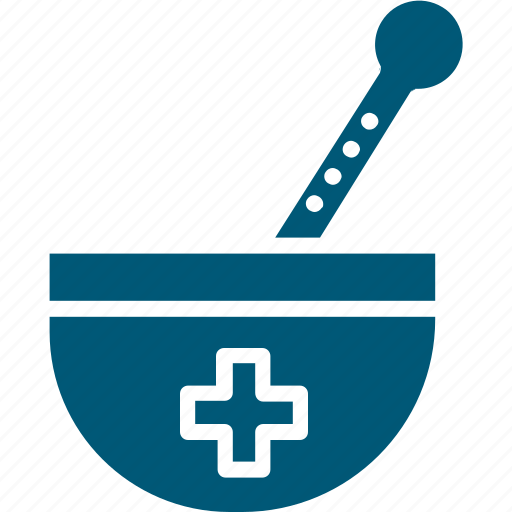 medicine bowl, mortar, pestle, pharmacist, pharmacy tool icon