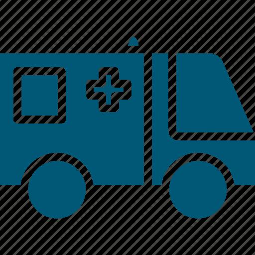 ambulance, emergency, emt, medical transport, medical van, rescue squad, rescue van icon