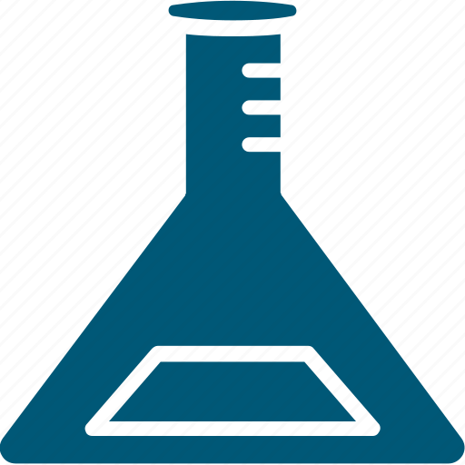 beaker, chemical, conical flask, elementary flask, flask, lab flask icon