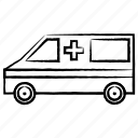 ambulance, transport, vehicle