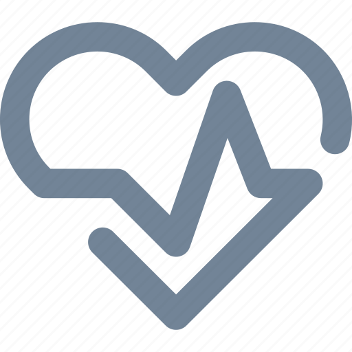 cardio, exam, health, healthcare, heart, line, medical, pulse, test icon