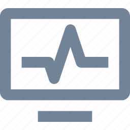 exam, healthcare, heart, line, medical, monitor, pulse, test icon