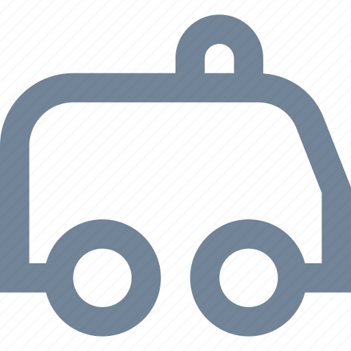 ambulance, car, healthcare, line, medical, pacient, transportation icon