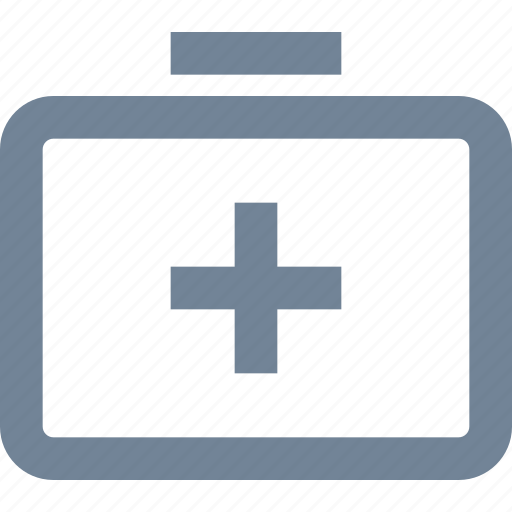 aid, bag, first, healthcare, kit, line, medical, medication icon