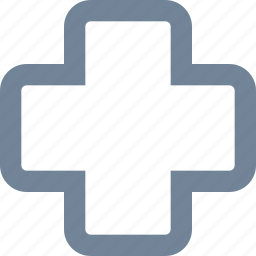 ambulance, cross, farmacy, healthcare, line, medical, sign icon