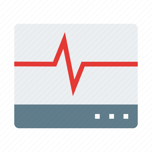 biology, cardiograph, health, medical icon