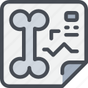 bone, document, healthcare, hospital, paper, report icon