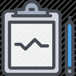 clipboard, healthcare, medical, report icon