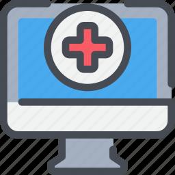 computer, healthcare, hospital, medical icon