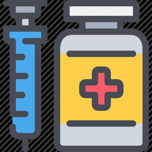 healthcare, hospital, injection, medicine, pharmacy icon