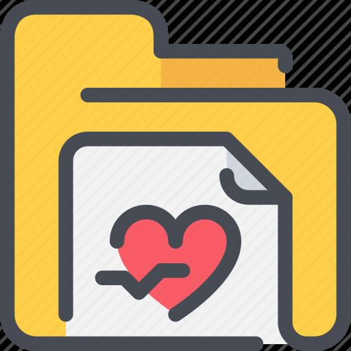 document, healthcare, heart, hospital, medical icon
