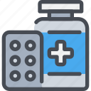 healthcare, hospital, medicine, pharmacy, pills icon