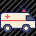 ambulance, emergency, siren, trasnportation, vehicle