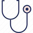 diagnose, doctor, health, medical, medicine, stethoscope icon
