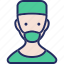 avatar, doctor, health, healthcare, male, medical, surgeon icon