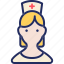 avatar, female, health, healthcare, medical, nurse icon