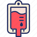 bag, blood, blood pack, health, medical, pack icon