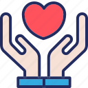 care, hand, health, healthcare, heart, medical, medicine icon