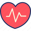 health, heart, heartbeat, life, line, medical, pulsee icon