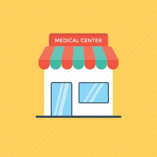 clinic, dispensary, hospital, infirmary, medical center icon